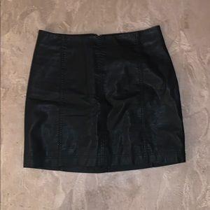 Free People Pleather Mini Skirt
